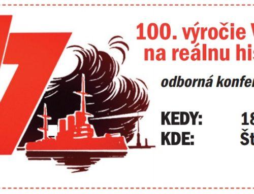 Konferencia k 100. výročiu VOSR