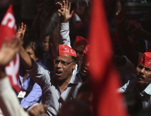 200 miliónov štrajkujúcich pod vedením komunistov v Indii;Predseda komunistickej strany zatknutý