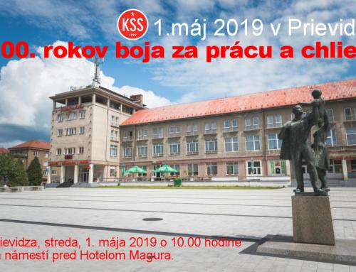 1.máj 2019 – Sviatok práce v Prievidzi